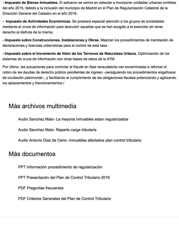 Plan de Control Tributario 2016 3 - Ayuntamiento de Madrid