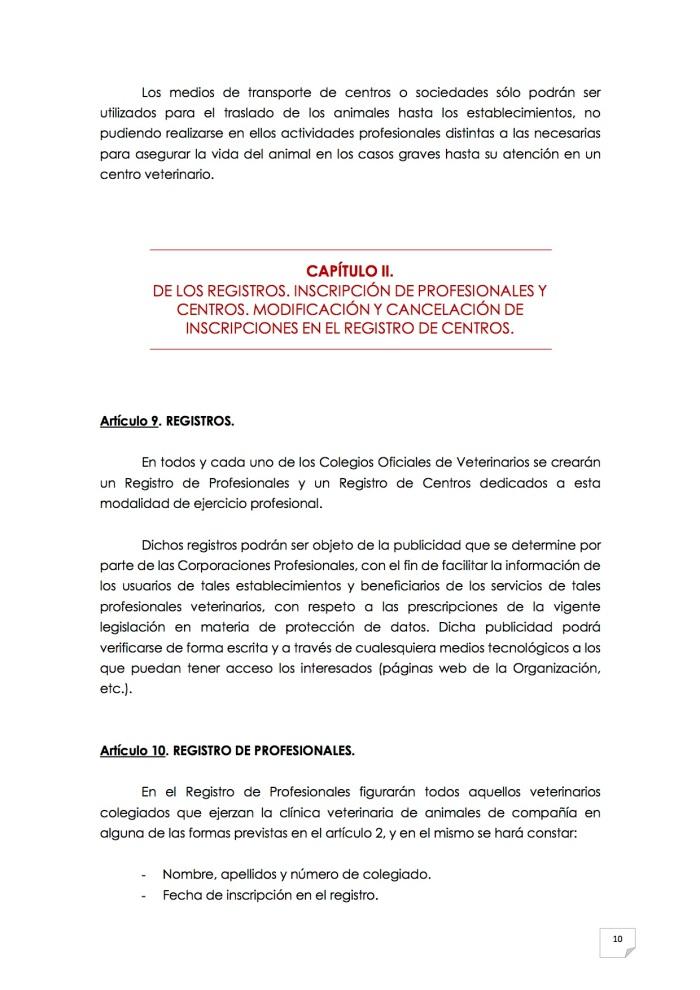 2015_07_11 11REGLAMENTO PARA EL EJERCICIO PROFESIONAL EN CLÍNICA DE ANIMALES DE COMPAÑÍA