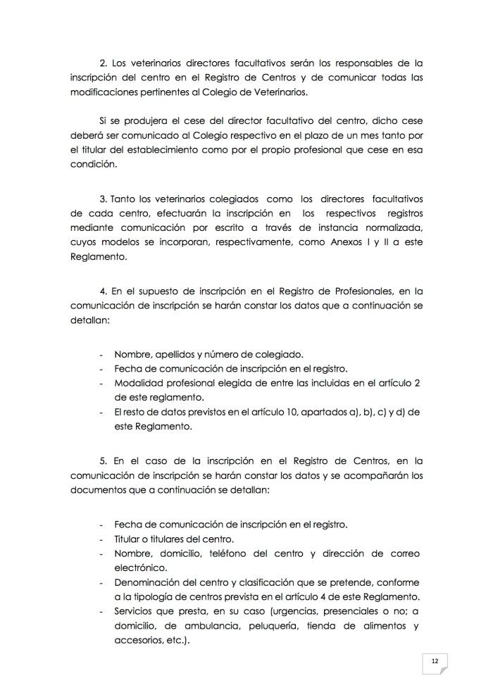 2015_07_11 13REGLAMENTO PARA EL EJERCICIO PROFESIONAL EN CLÍNICA DE ANIMALES DE COMPAÑÍA