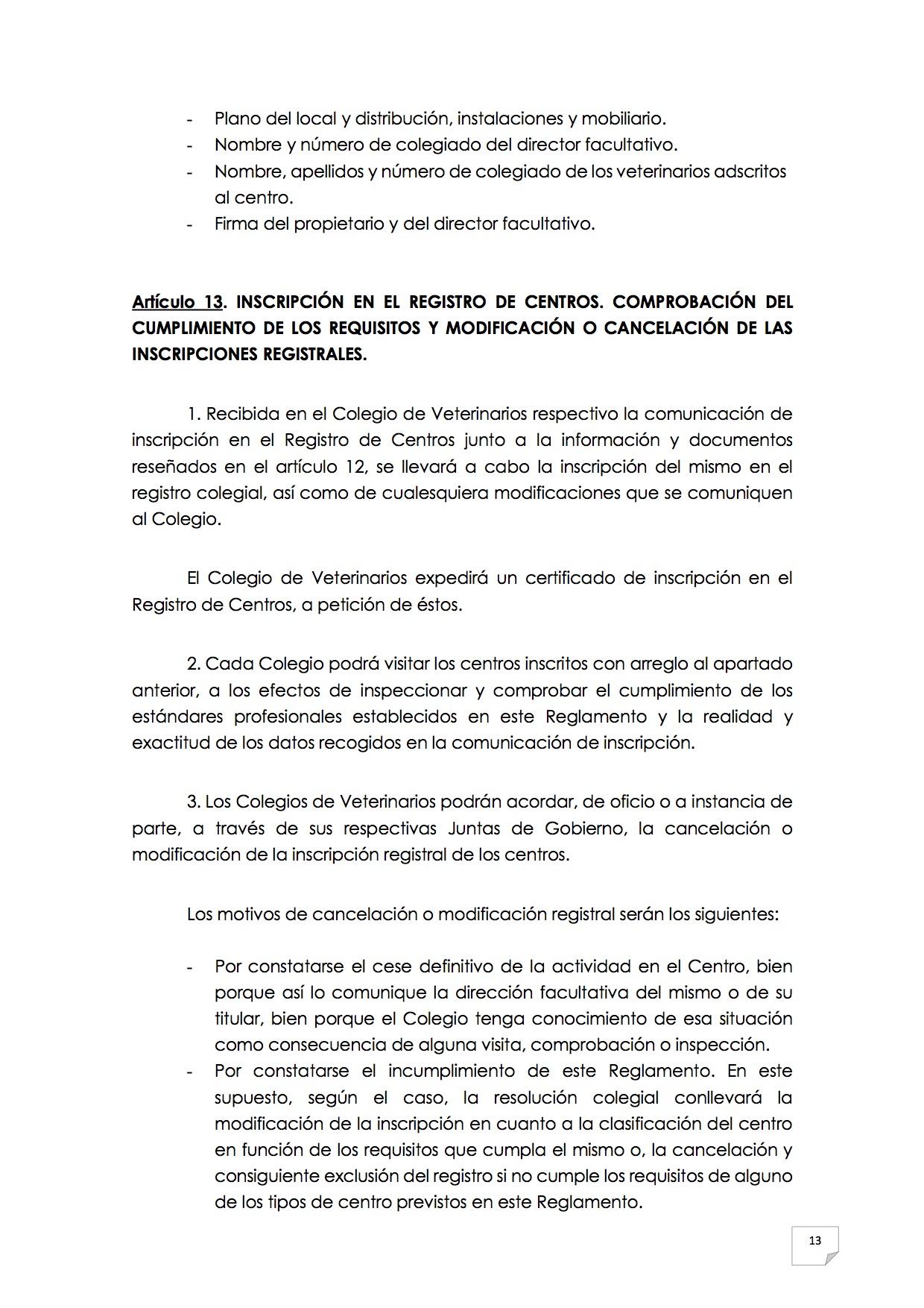 2015_07_11 14REGLAMENTO PARA EL EJERCICIO PROFESIONAL EN CLÍNICA DE ANIMALES DE COMPAÑÍA