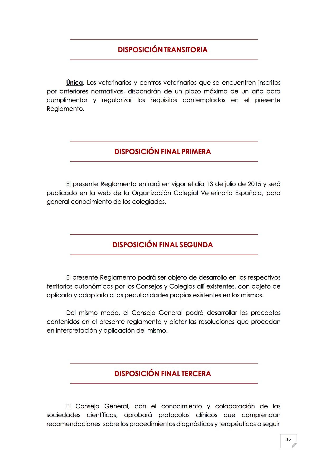 2015_07_11 17REGLAMENTO PARA EL EJERCICIO PROFESIONAL EN CLÍNICA DE ANIMALES DE COMPAÑÍA