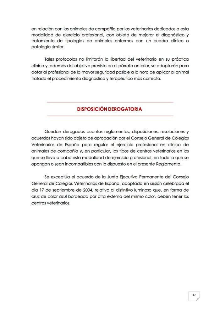 2015_07_11 18REGLAMENTO PARA EL EJERCICIO PROFESIONAL EN CLÍNICA DE ANIMALES DE COMPAÑÍA