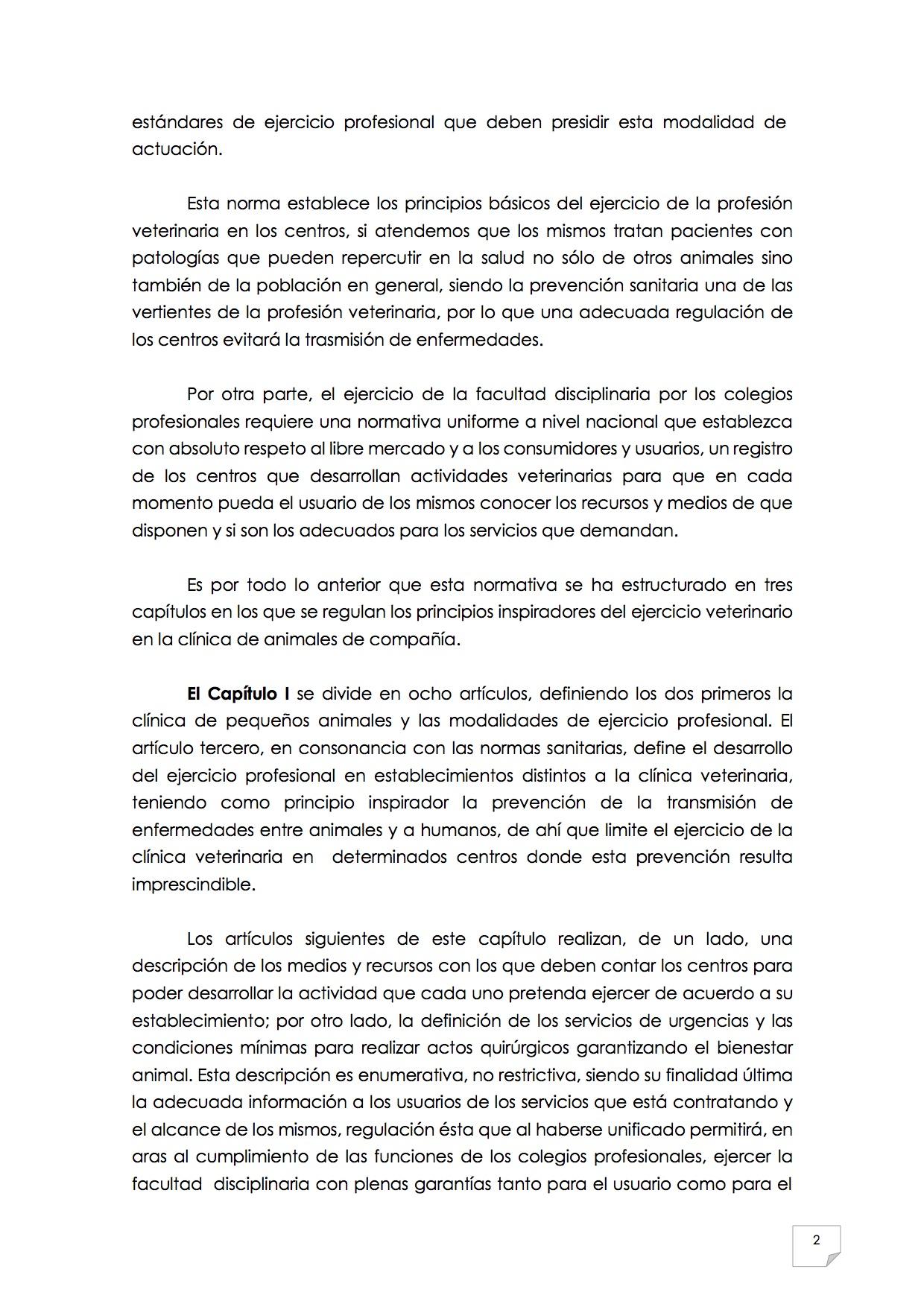 2015_07_11 3REGLAMENTO PARA EL EJERCICIO PROFESIONAL EN CLÍNICA DE ANIMALES DE COMPAÑÍA