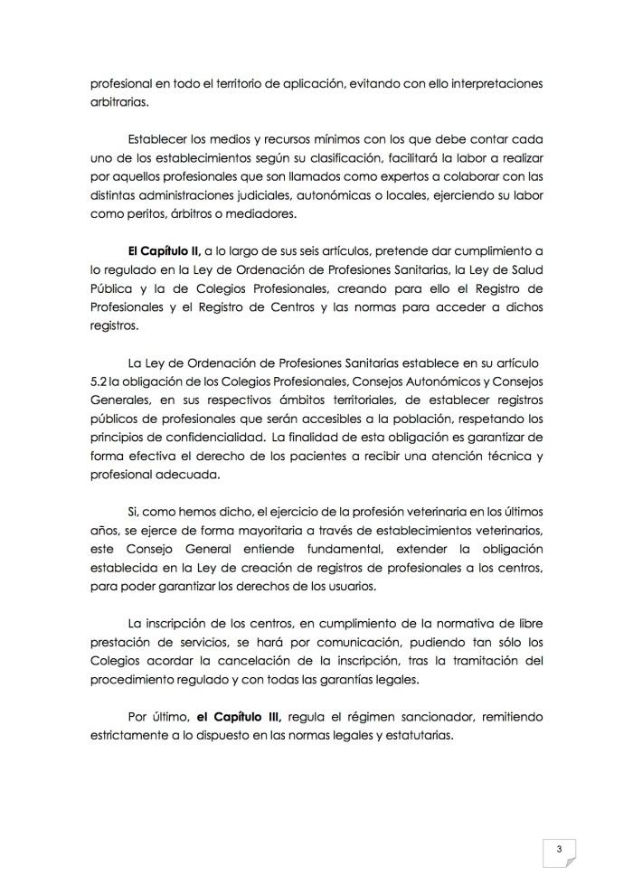 2015_07_11 4REGLAMENTO PARA EL EJERCICIO PROFESIONAL EN CLÍNICA DE ANIMALES DE COMPAÑÍA