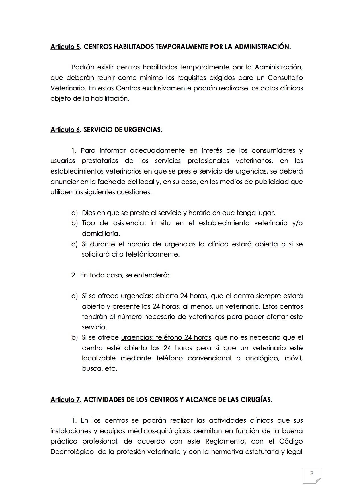 2015_07_11 9REGLAMENTO PARA EL EJERCICIO PROFESIONAL EN CLÍNICA DE ANIMALES DE COMPAÑÍA