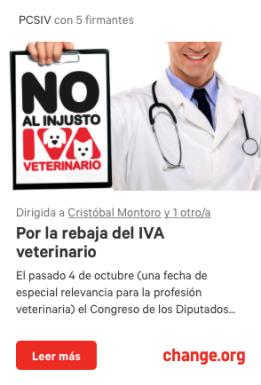 iva veterinario change